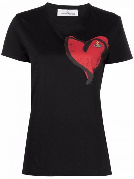 Черная лонгслив с принтом Vivienne Westwood