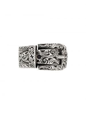 Pierścionek srebrny klamry Gucci