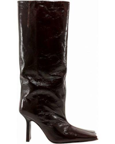 Brązowe ankle boots Miista