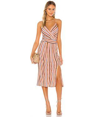 Платье миди с вырезом с поясом Bcbgeneration