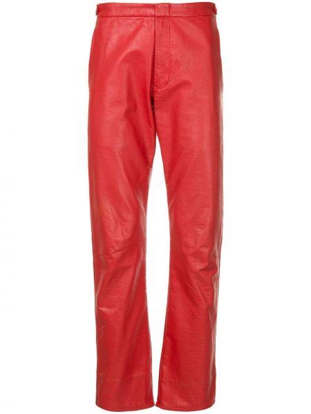 Красные нейлоновые брюки винтажные с поясом Comme Des Garçons Pre-owned
