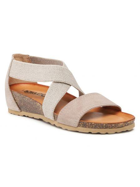 Sandały skórzane - szare Igi&co