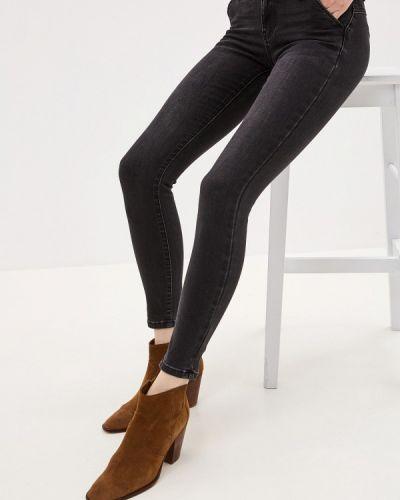 Черные джинсы-скинни с пайетками Miss Bon Bon