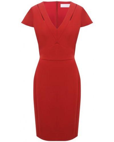 Красное платье из вискозы Boss