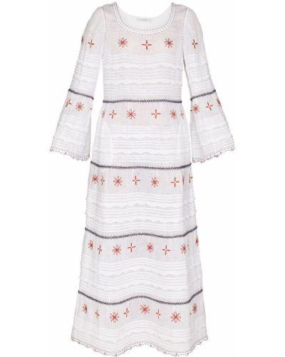 Белое льняное платье макси Vita Kin