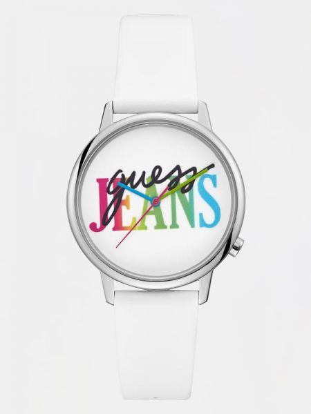 Zegarek srebrny - biały Guess