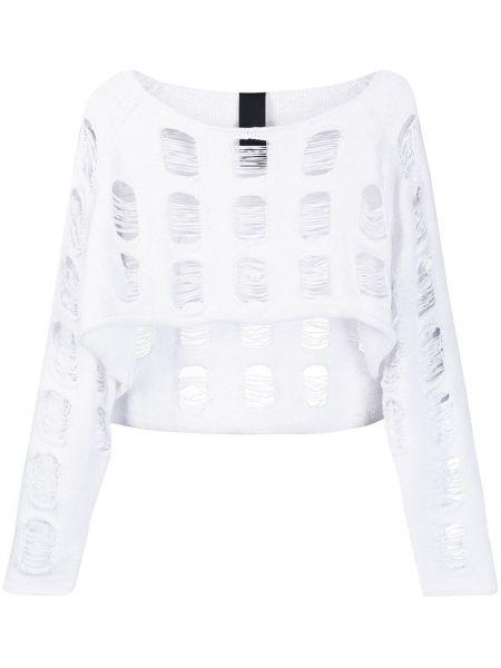 Хлопковый белый свитер Rundholz