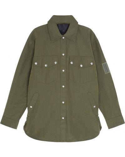 Джинсовая куртка милитари зеленая Alexander Wang