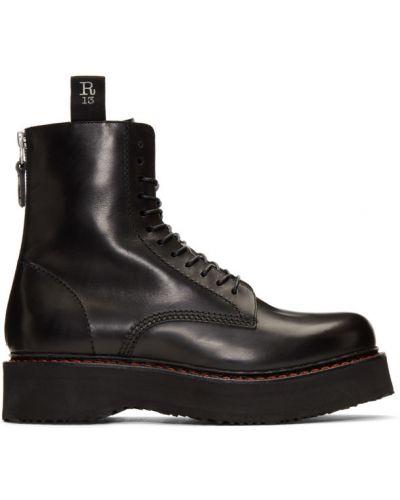 Кожаные ботинки с высоким голенищем треккинговые R13