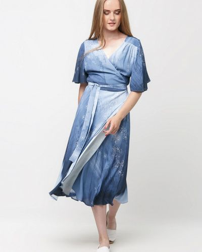 Платье с запахом осеннее Dasti
