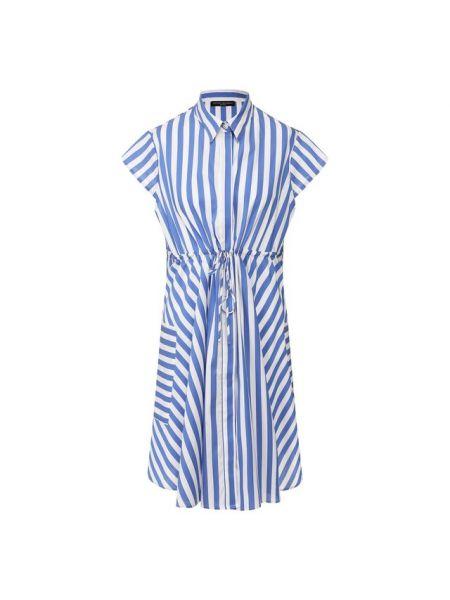 Хлопковое синее платье Pietro Brunelli