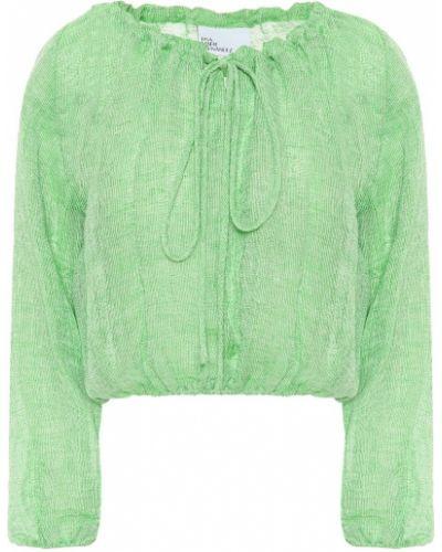 Зеленая льняная блузка Lisa Marie Fernandez