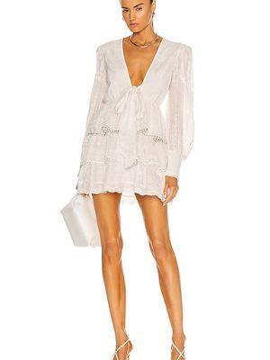 Белое платье мини с подкладкой из вискозы Hemant And Nandita