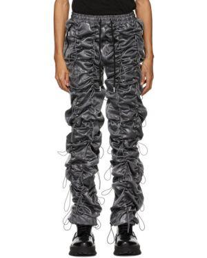 Серебряные брюки с завязками с манжетами 99% Is