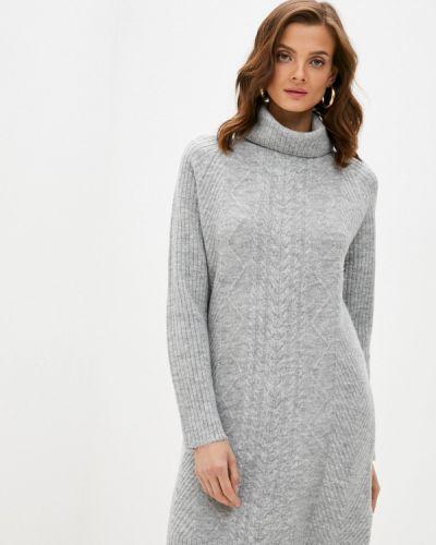 Вязаное серое платье Bruebeck