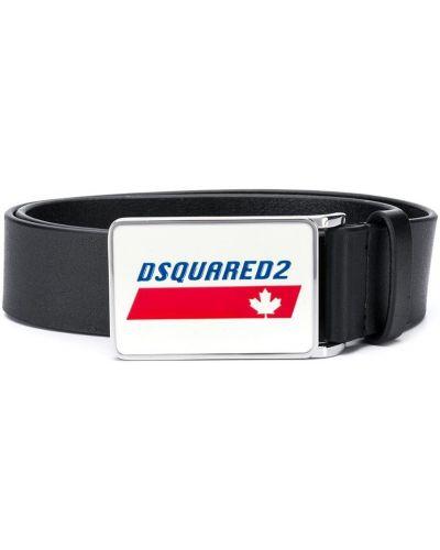 Черный кожаный ремень Dsquared2 Kids