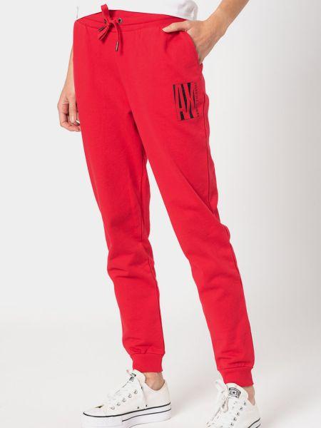 Хлопковые спортивные брюки - красные Armani Exchange