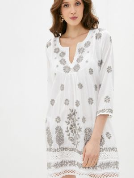 Пляжное белое платье Venera