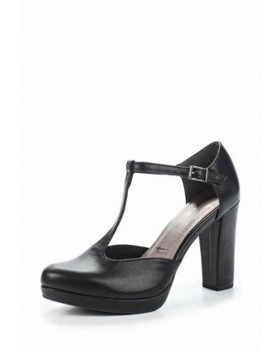 Черные туфли с застежкой на лодыжке Tamaris