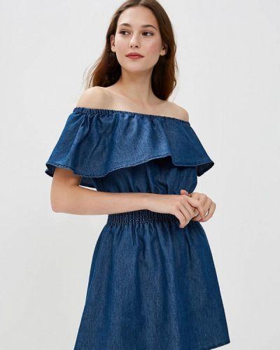 Джинсовое платье весеннее синее Piazza Italia