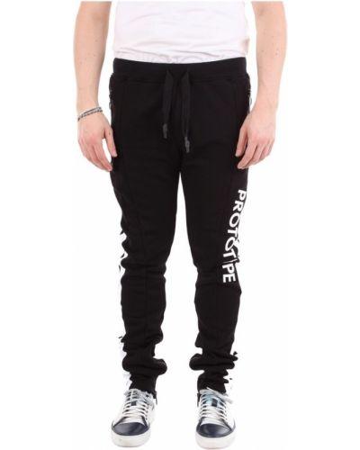 Czarne joggery bawełniane Omc