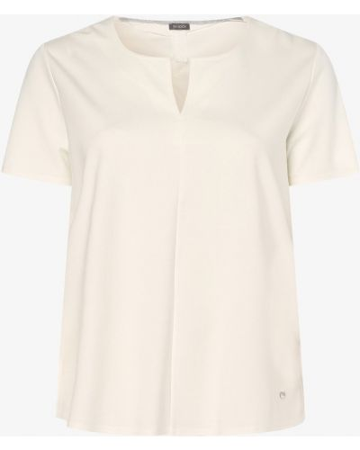 Biały T-shirt basic Samoon