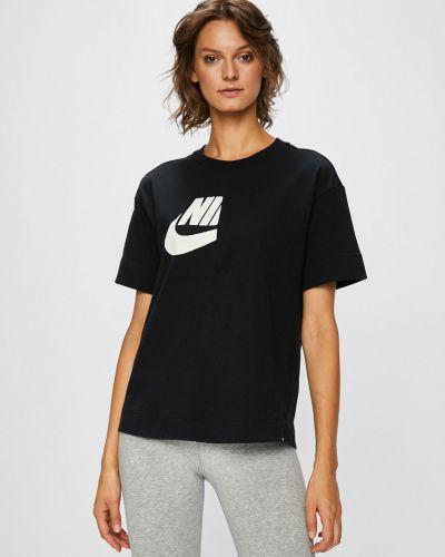 Спортивная футболка черная эластичный Nike Sportswear