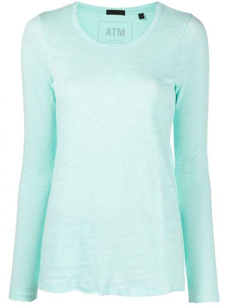 Niebieski t-shirt z długimi rękawami bawełniany Atm Anthony Thomas Melillo
