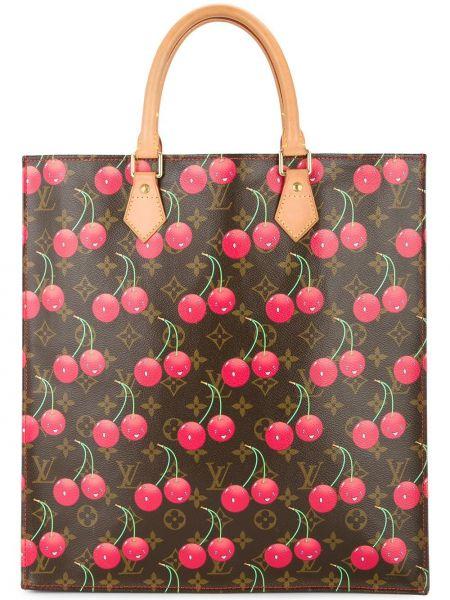 Коричневая сумка-тоут из канваса винтажная Louis Vuitton