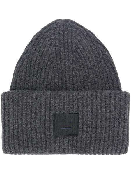 Trykotowy kapelusz z logo klasyczny Acne Studios