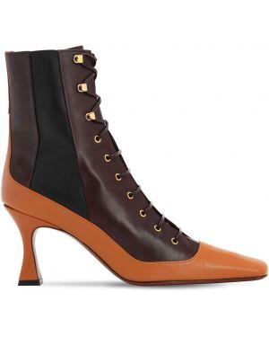 Ажурные сапоги без каблука на шнуровке Manu Atelier