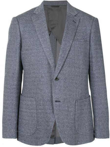 Льняной пиджак с заплатками с лацканами с карманами D'urban