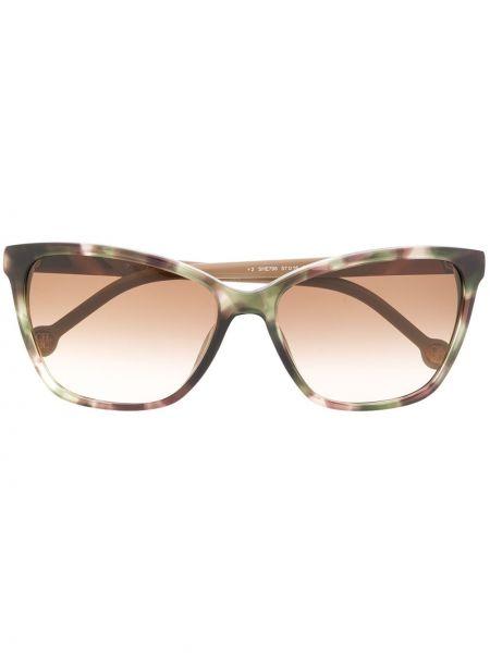 Прямые солнцезащитные очки металлические хаки Ch Carolina Herrera