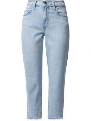 Джинсовые укороченные джинсы на молнии Nobody Denim
