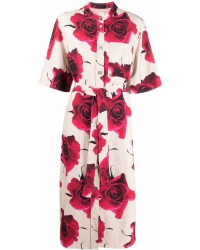 Шелковое платье миди Paul Smith