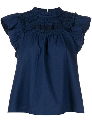Блузка без рукавов - синяя Sea