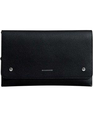 Кожаная сумка черная Burberry