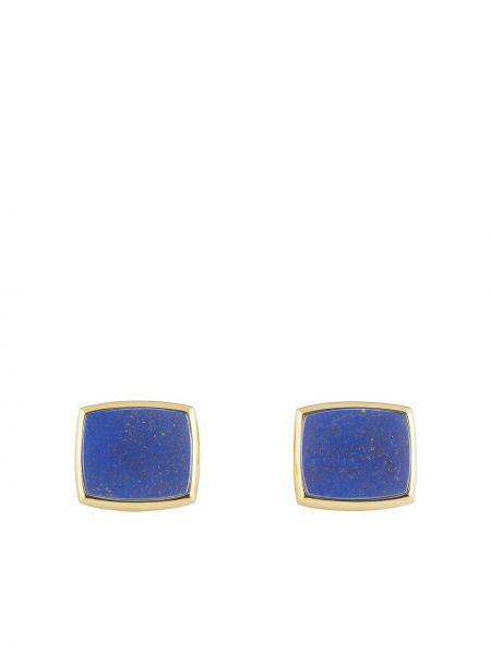 Золотистые запонки золотые со вставками Piaget