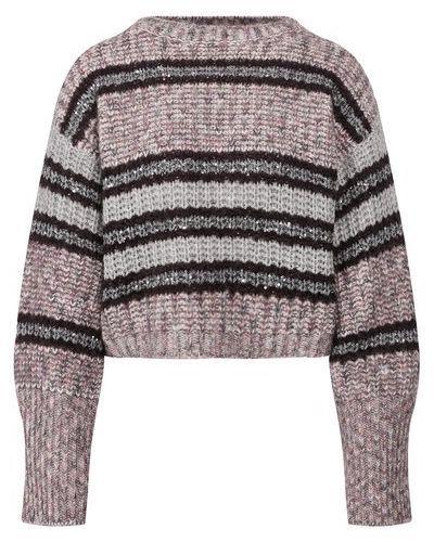 Розовый свитер из мохера с пайетками Brunello Cucinelli