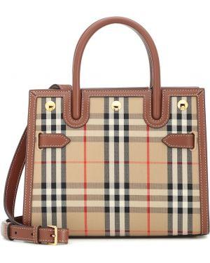 Маленькая сумка сумка-тоут из канваса Burberry