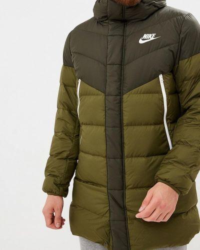 Зимняя куртка осенняя зеленая Nike