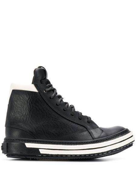 Черные высокие кроссовки Artselab