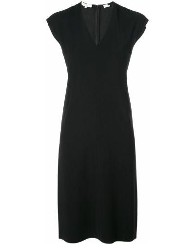 Платье миди с V-образным вырезом прямое Vince.