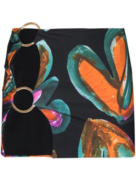 Czarna spódnica z printem Louisa Ballou