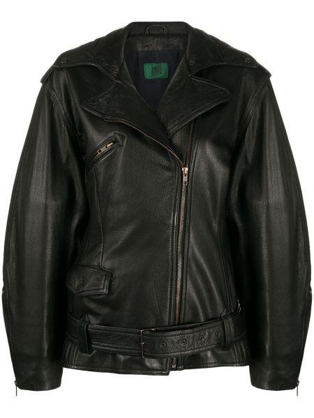 Черная свободная куртка с манжетами на молнии Jean Paul Gaultier Pre-owned