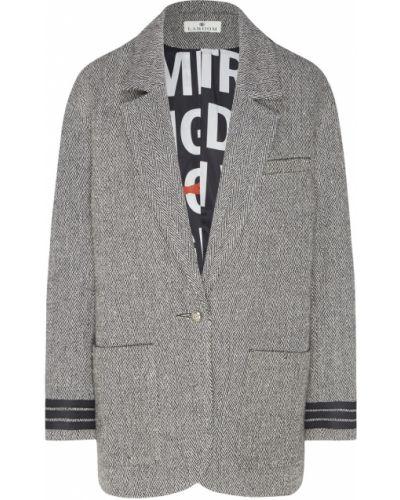 Шерстяной пиджак - серый Laroom