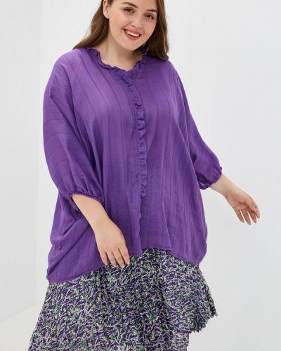 Фиолетовая блузка с оборками Olsi