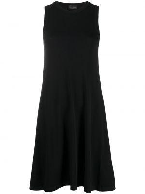 Черное платье трапеция без рукавов Roberto Collina