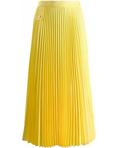 Плиссированная юбка миди желтый Marios