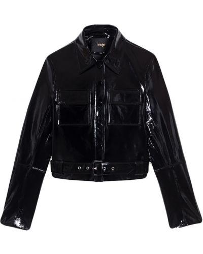Куртка черная на молнии Maje